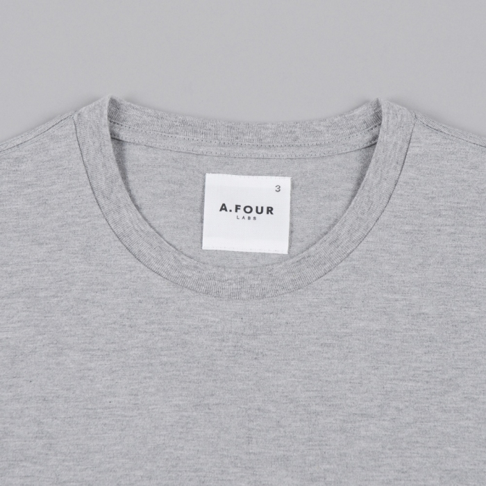 A.FOUR 3 Panel T-Shirt - Grey/Navy/Black (Image 1)