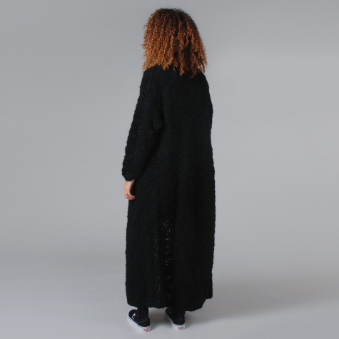 Lonely Hearts Long Knit Cardigan - Black (Image 1)