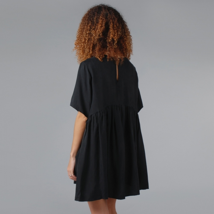 Lonely Hearts Petal Dress - Black (Image 1)