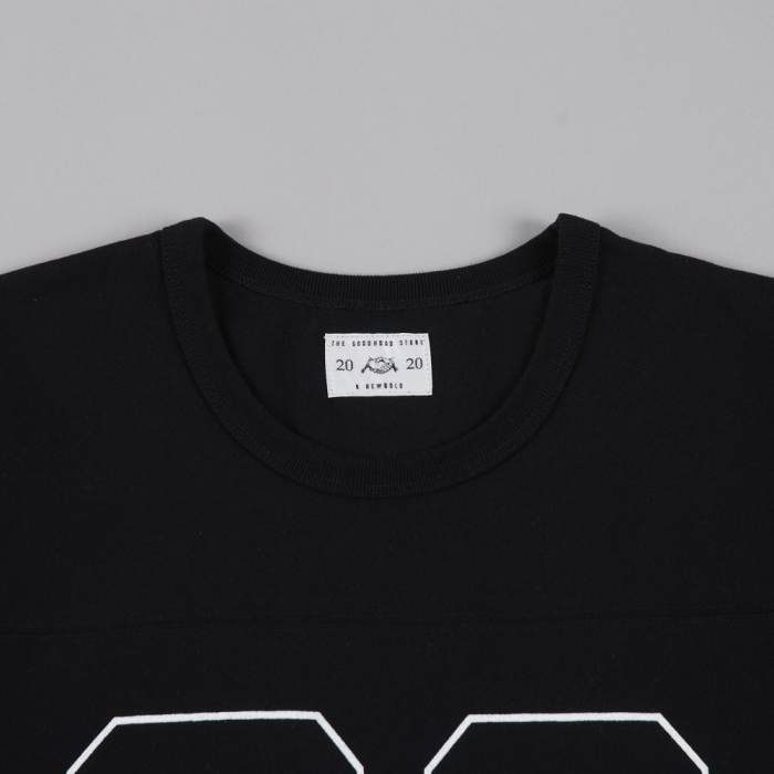 Goodhood X R. Newbold Goodhood x R.Newbold Dot 3/4 Sleeve T-Shirt - Black (Image 1)