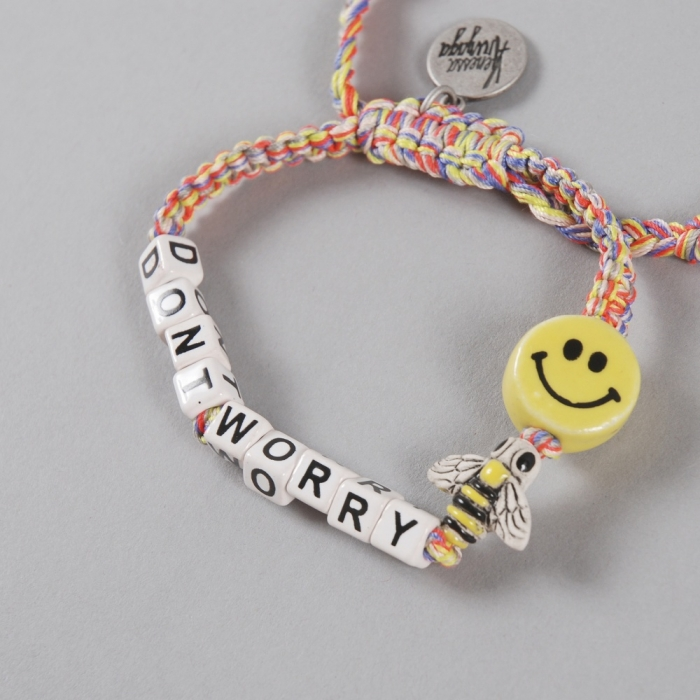 Venessa Arizaga 'Don't Worry Be Happy' Bracelet - Sunset Mela (Image 1)