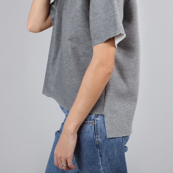 MM6 Maison Margiela MM6 By Maison Martin Margiela Sweat T-shirt - Grey (Image 1)