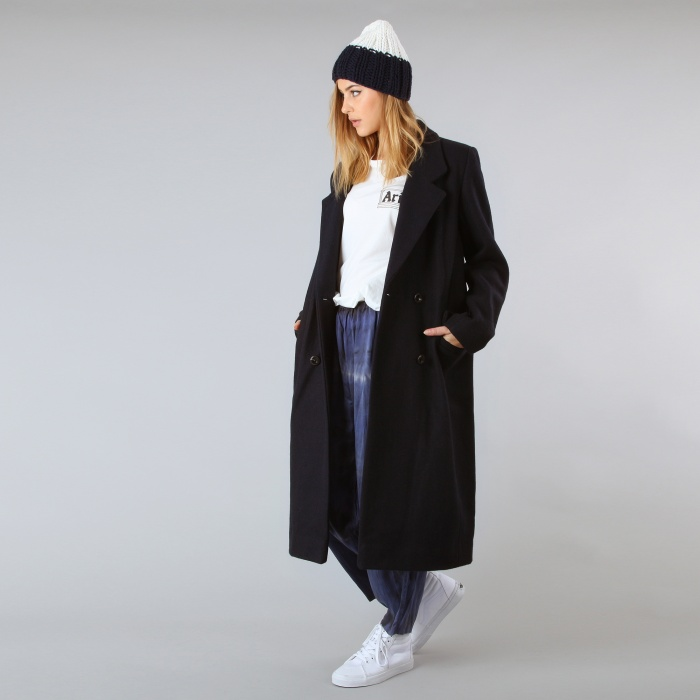 Ganni Malin Military Coat - Navy (Image 1)