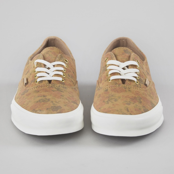 Vans Authentic Decon CA Floral Suede - Indian Tan (Image 1)
