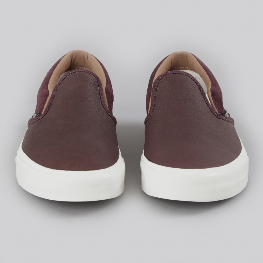 7db76aeca92b55 Vans Classic Slip-On CA Torino Leather - Winetasting (Image 1)