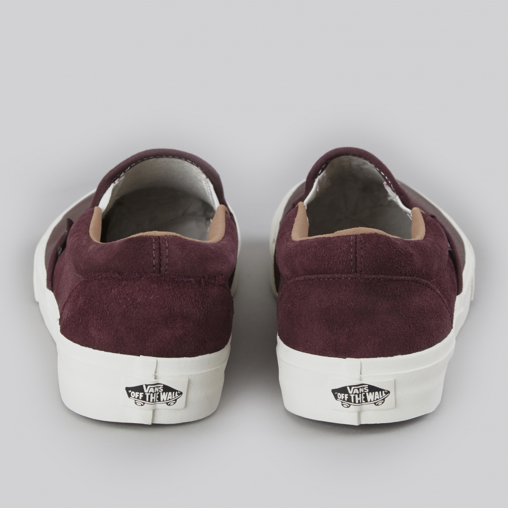 7b0d520c1fa609 Vans Classic Slip-On CA Torino Leather - Winetasting