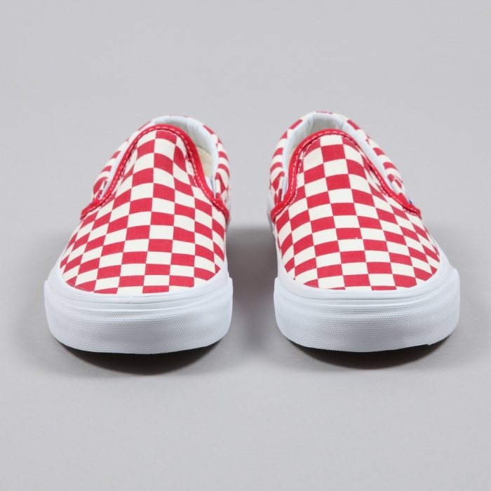 Vans Classic Slip-On Golden Coast - Red/White Checker (Image 1)