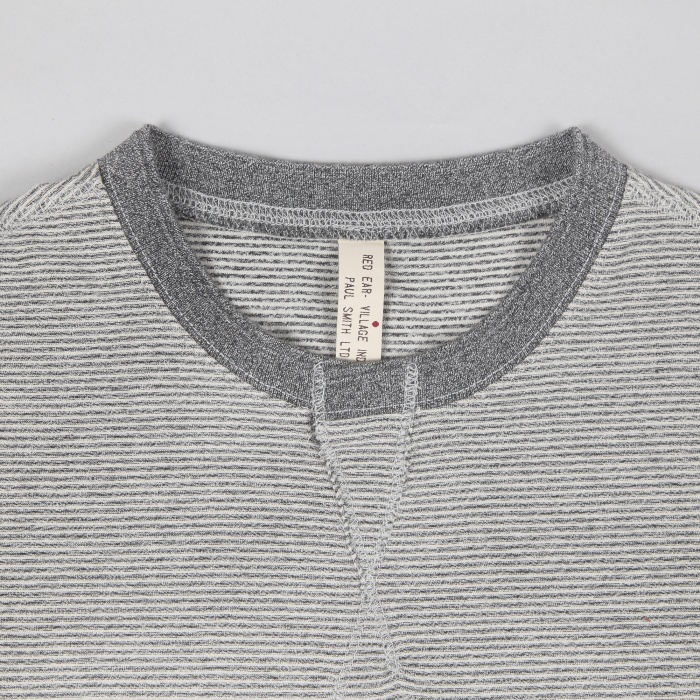 Paul Smith Stripe T-Shirt - Grey/Ecru (Image 1)