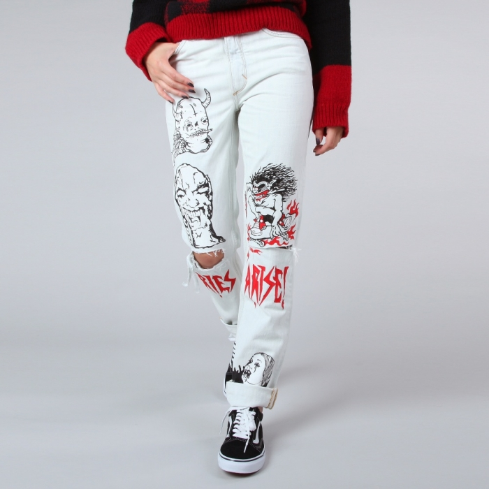Aries Print On Denim - Bleach/Print (Image 1)
