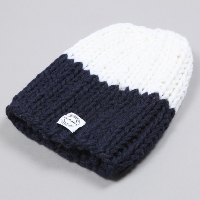 LF Markey Beanie - Navy/White Two Tone (Image 1)